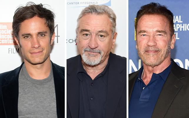 Gael García Bernal, Robert De Niro y Arnold Schwarzenegger