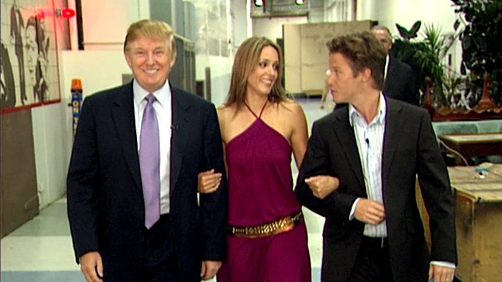 Donald Trump, Arianne Zucker y Billy Bush
