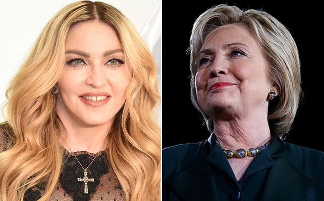 Madonna y Hillary Clinton