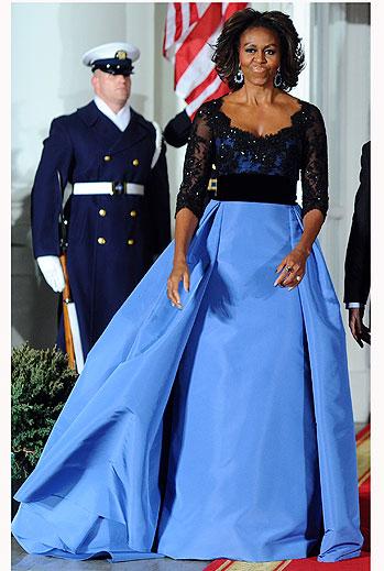 Michelle Obama: sus vestidos más espectaculares