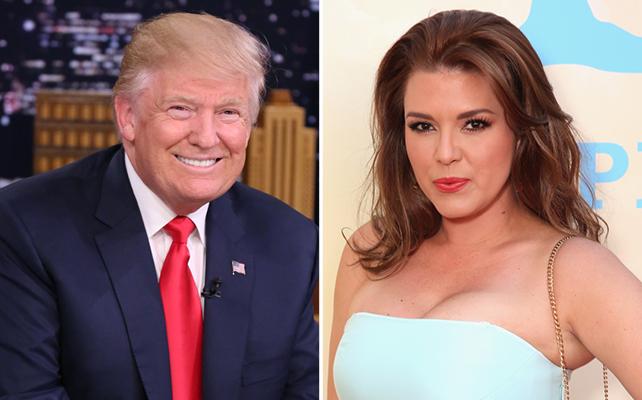 Donald Trump y Alicia Machado