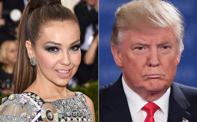 Thalía y Donald Trump