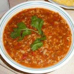 Sopa de Jitomate y Avena
