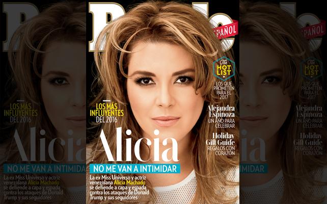 Alicia Machado en la portada de Diciembre 2016 de People En Español