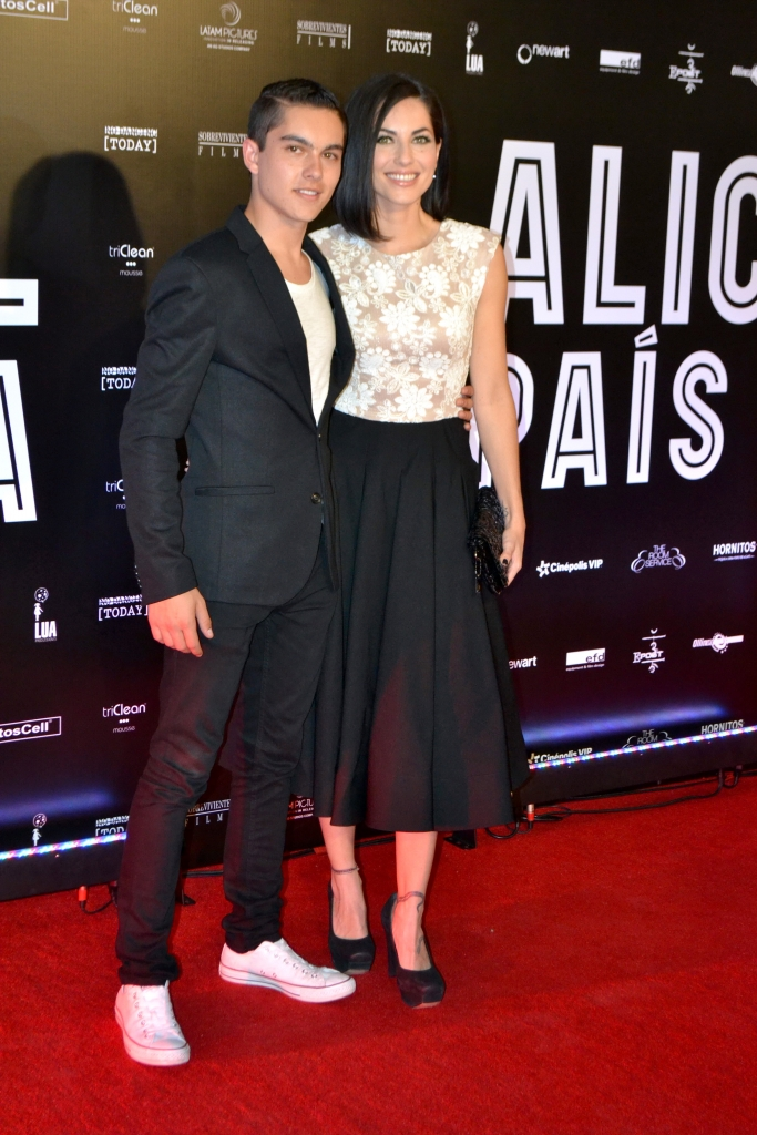 Bárbara Mori y su hijo Sergio Mayer
