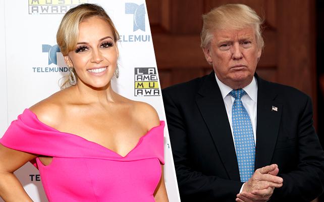 Rosie Rivera y Donald Trump