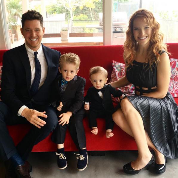 Michael Buble y su familia