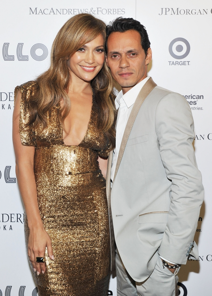 Jennifer López y Marc Anthony en el Apollo Theater