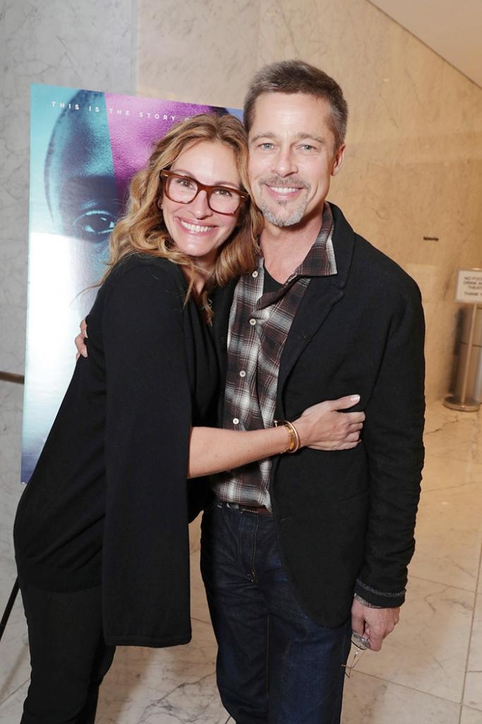 Julia Roberts y Brad Pitt