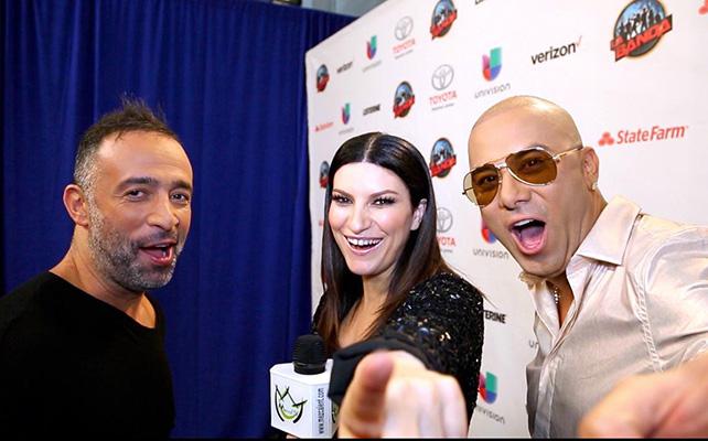 Mario Domm, Laura Pausini y Wisin