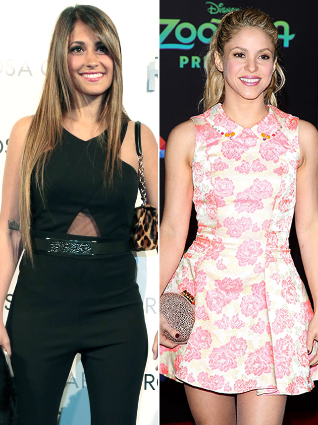 Antonella Rocuzzo y Shakira