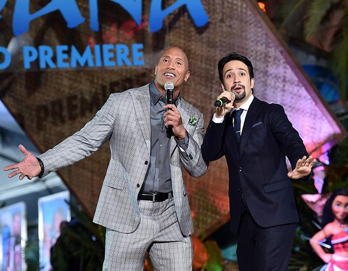 Dwayne 'The Rock' Johnson, Lin-Manuel Miranda