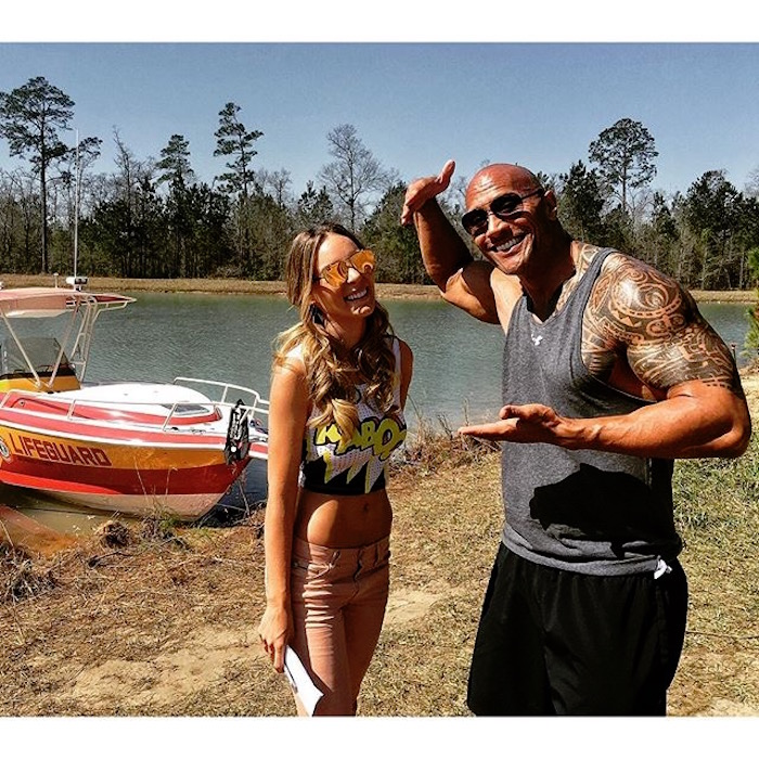 Belinda y Dwayne Johnson