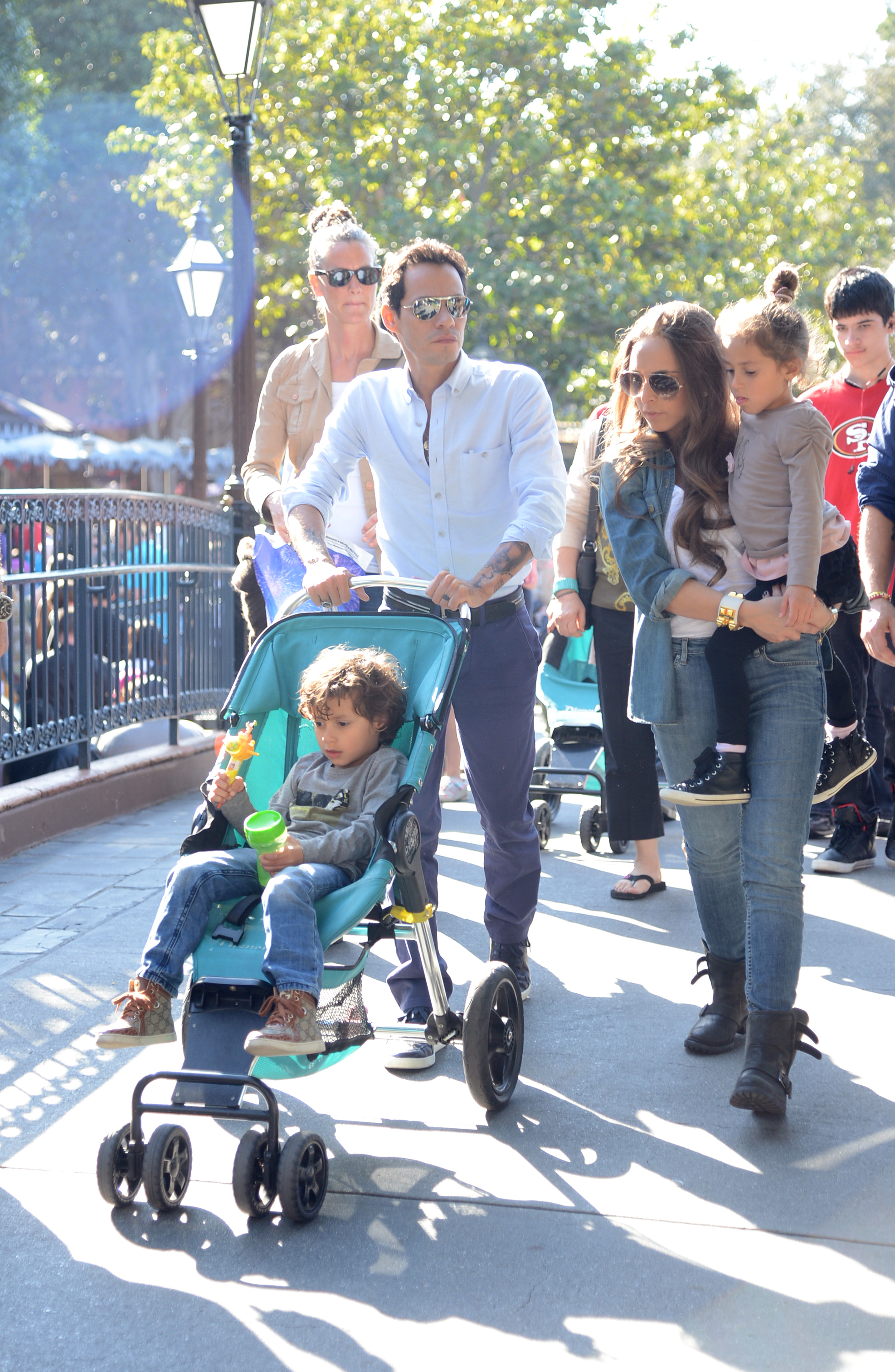 Marc Anthony Sighting At Disneyland With His Twins Max And Emme
