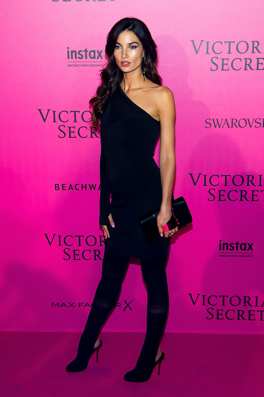 Lily Aldridge en el after party de Victoria's Secret