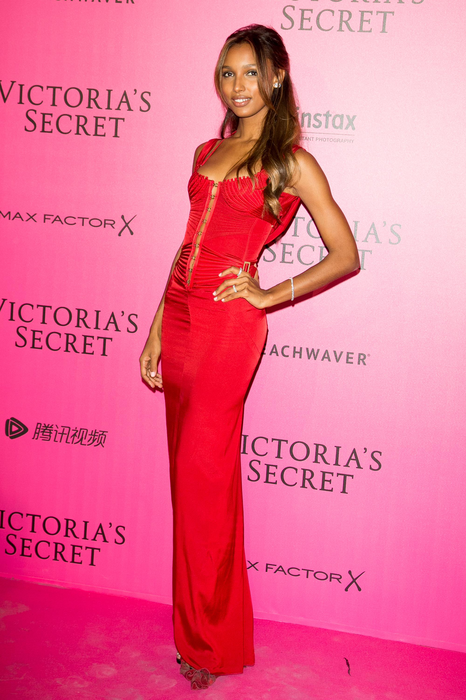 Jasmine Tooke en el after party de Victoria's Secret