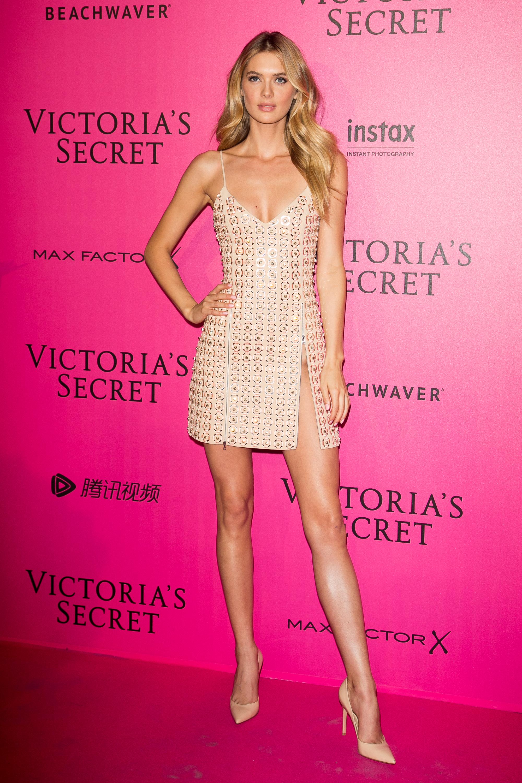 Megan Williams en el after party de Victoria's Secret