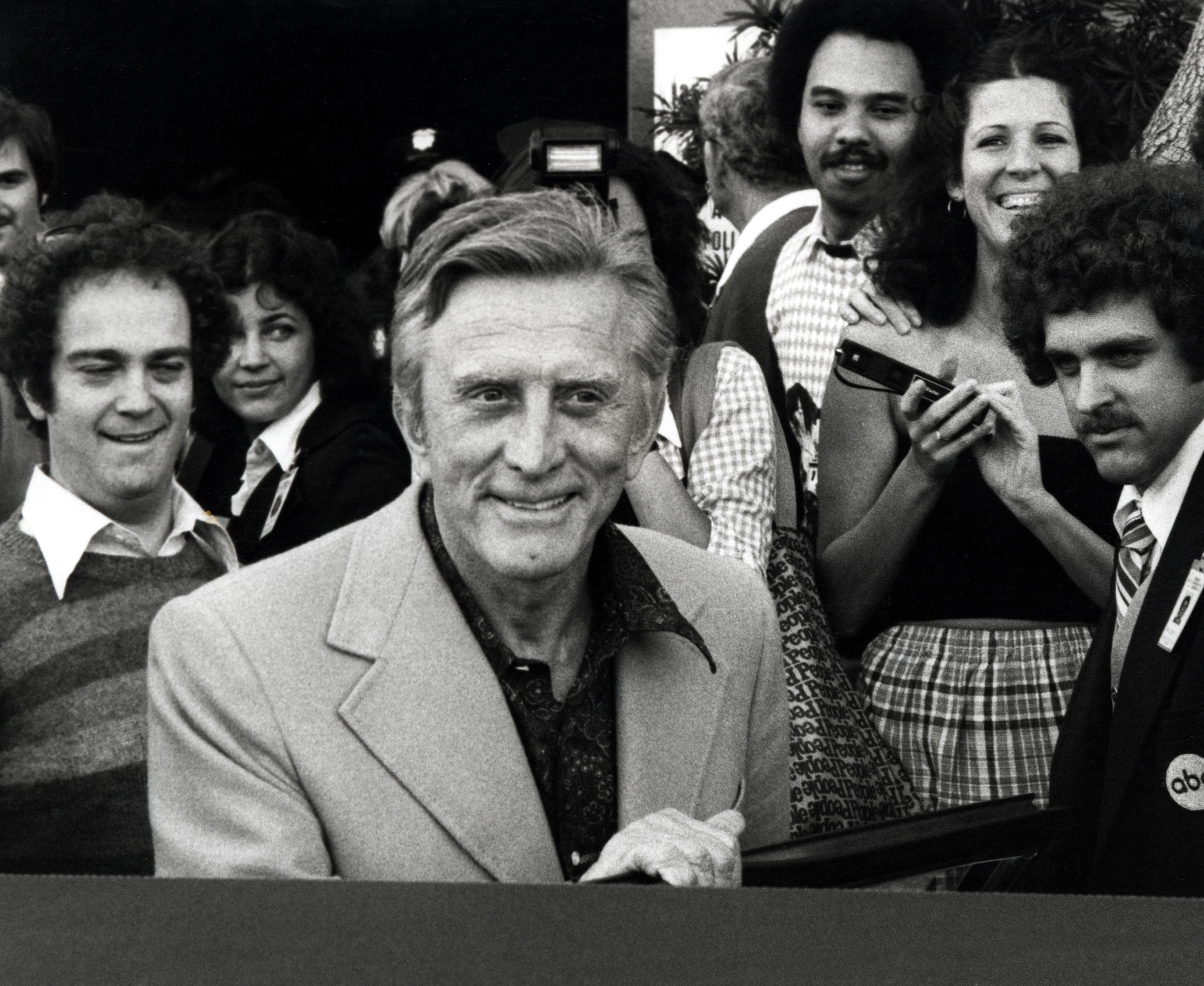 Kirk Douglas during Kirk Douglas Leaving Academy Awards Rehearsals - April 12, 1978, United States. (Photo by Ron Galella, Ltd./WireImage)