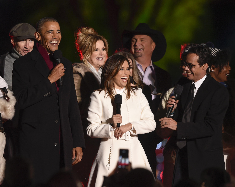 Barack Obama, Marc Anthony, Eva Longoria