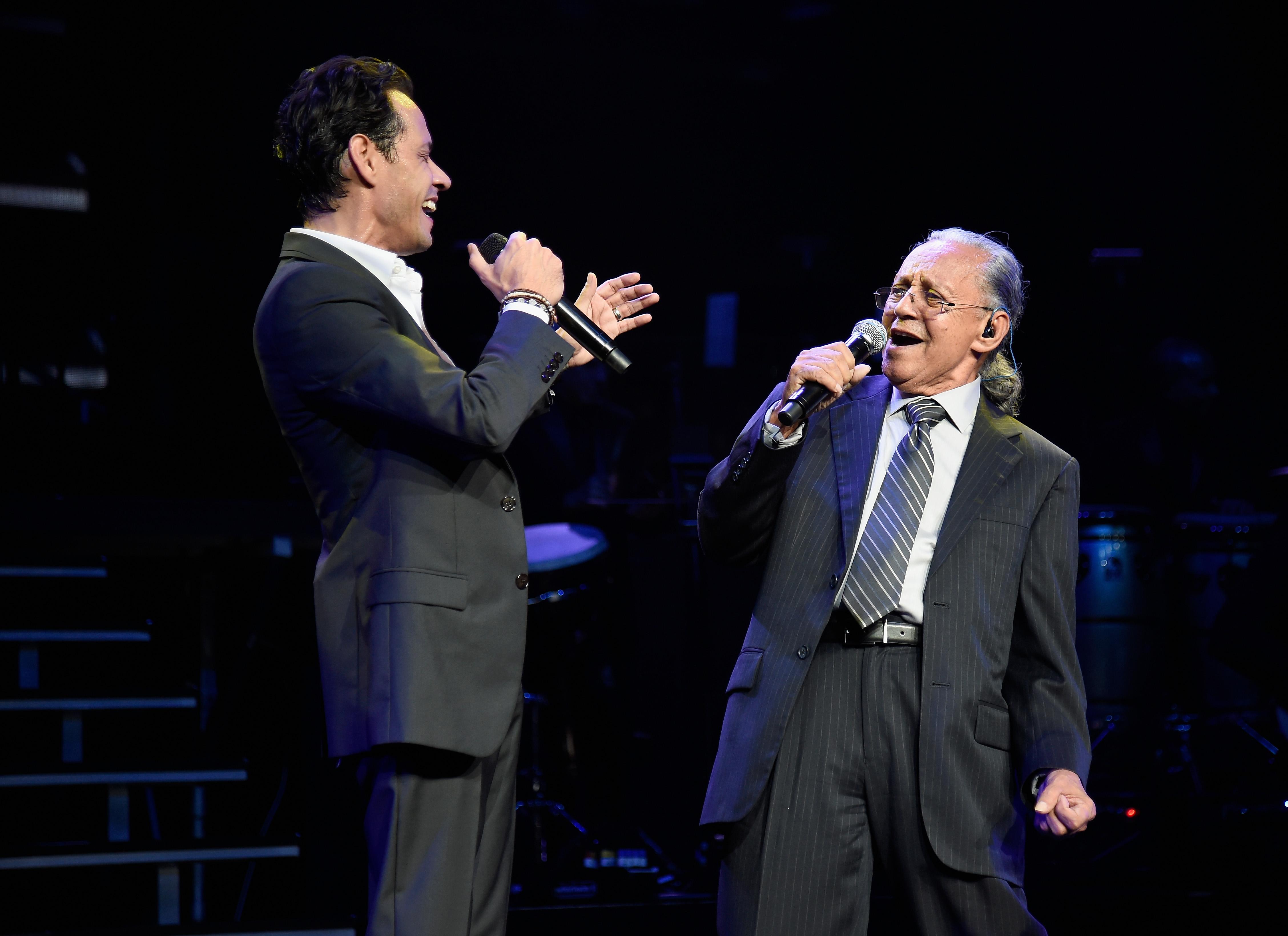 Marc Anthony y su papá Felipe Muniz