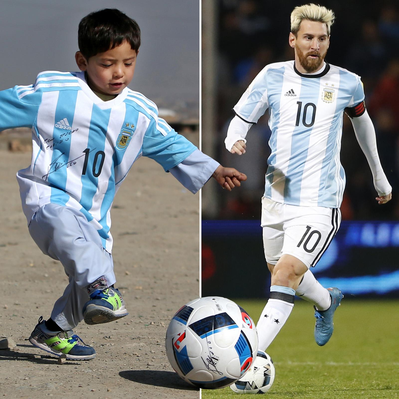 Murtaza Ahmadi y Lionel Messi