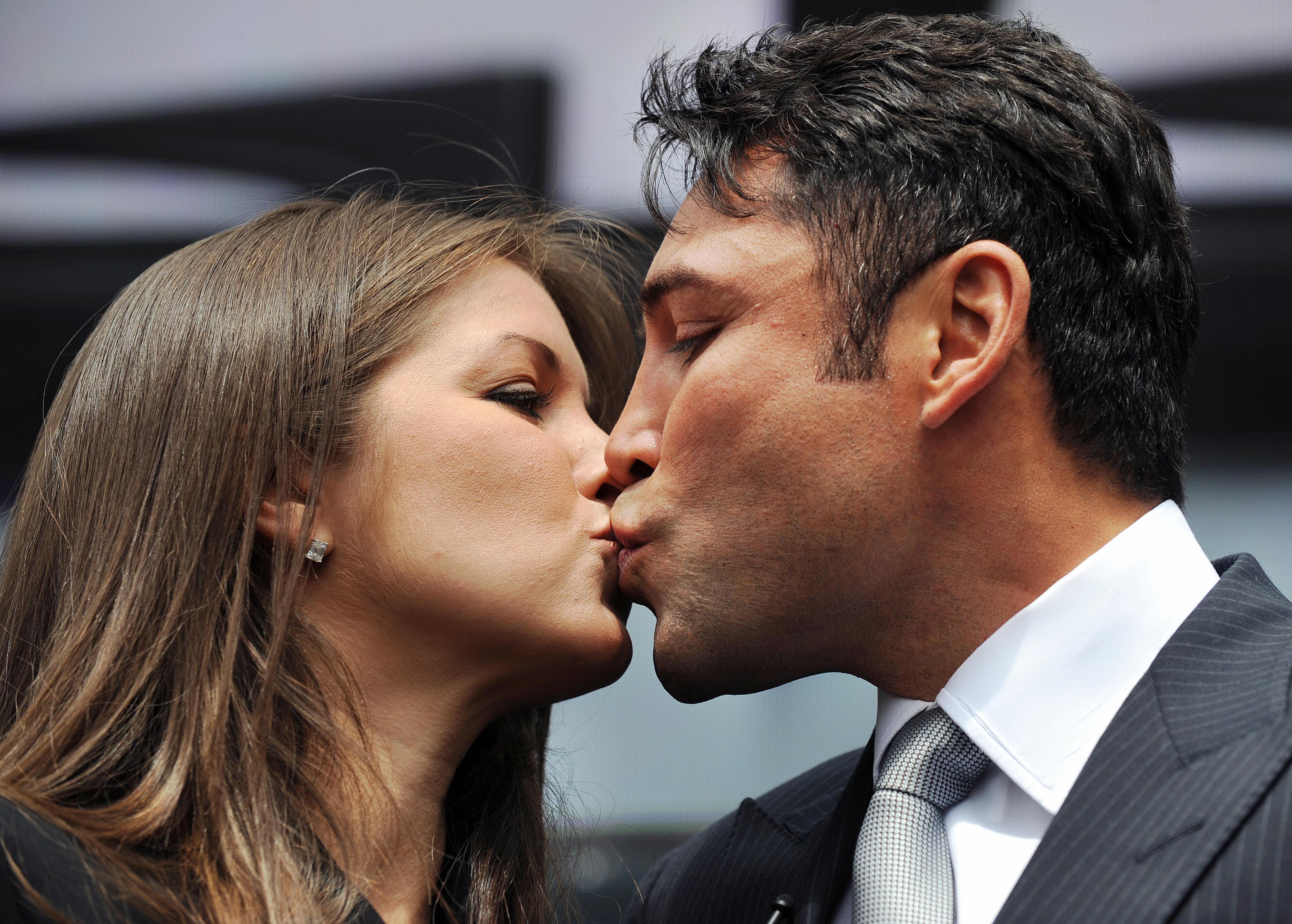 Oscar De La Hoya y Millie Corretjer