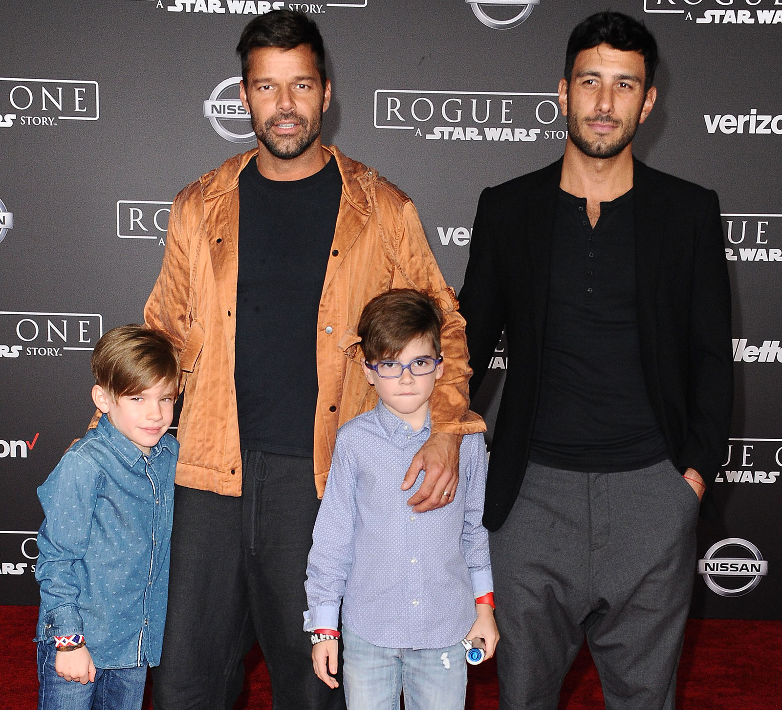 Ricky Martin con su pareja Jwan Yosef y su hijos Matteo y Valentino