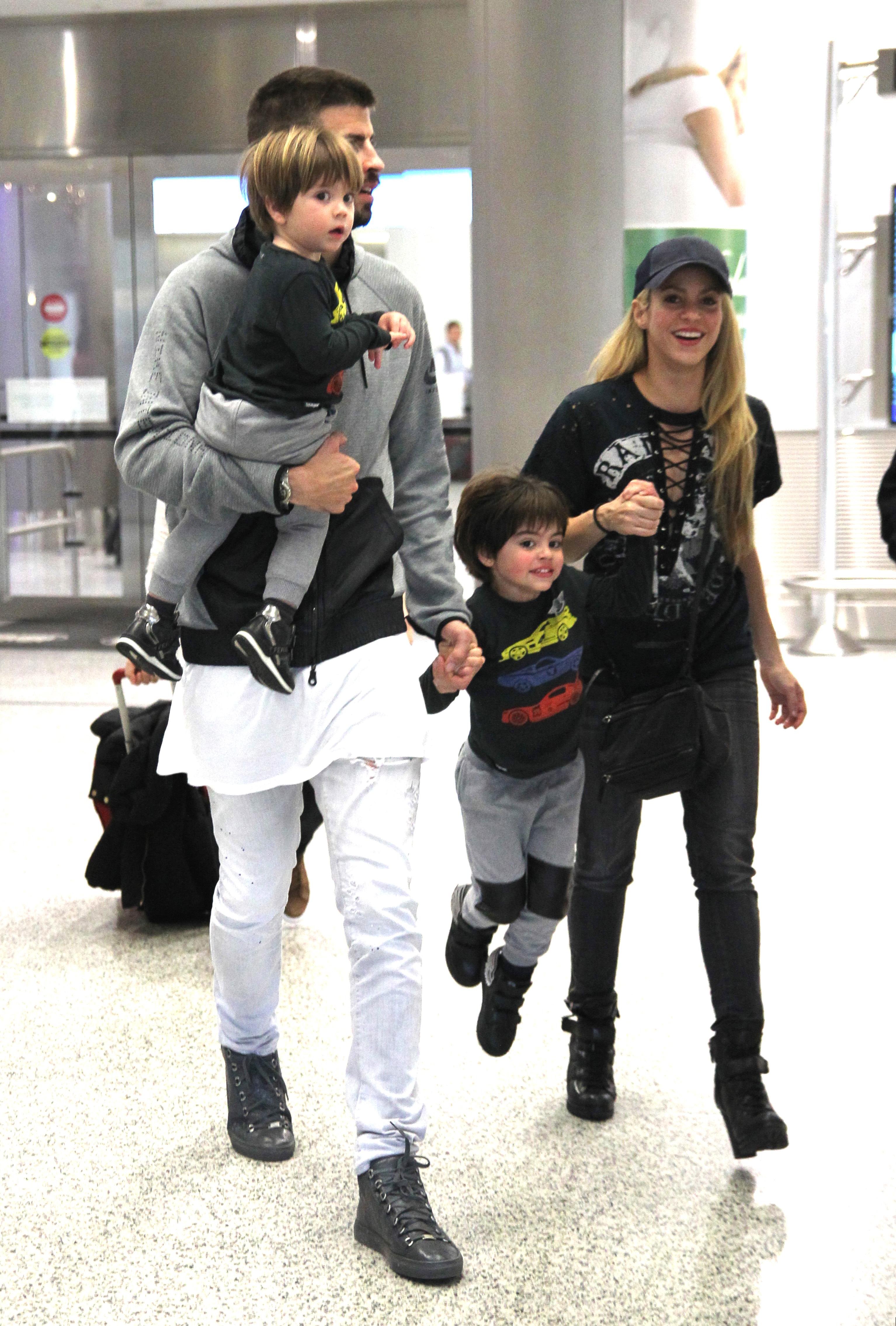 Shakira, Gerard Piqué, Milan y Sasha