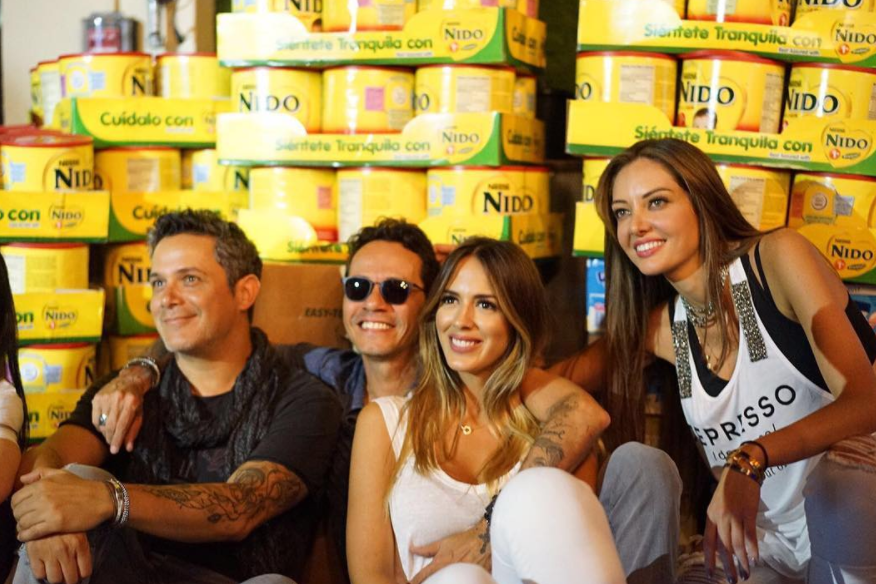 Shannon de Lima, Alejandro Sanz, Marc Anthony y Patricia Zavala