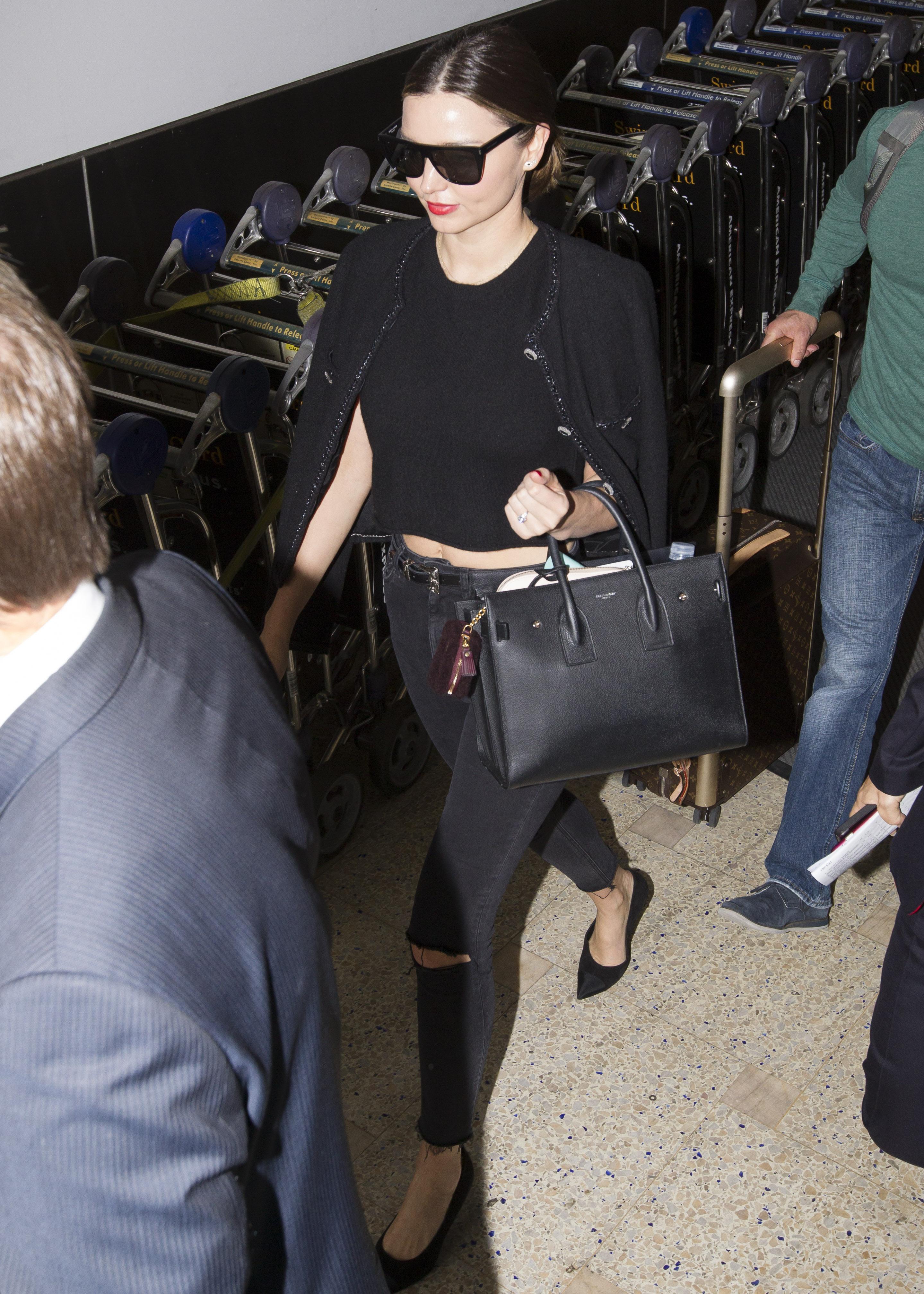 Miranda Kerr And Evan Spiegel Jet Into Sydney Ahead Of Her Brother Matthew's Wedding