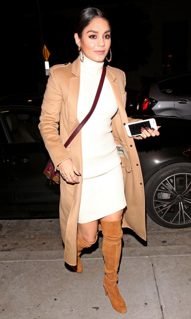 Vanessa Hudgens joins boyfriend Austin Butler for a date night at Catch LA