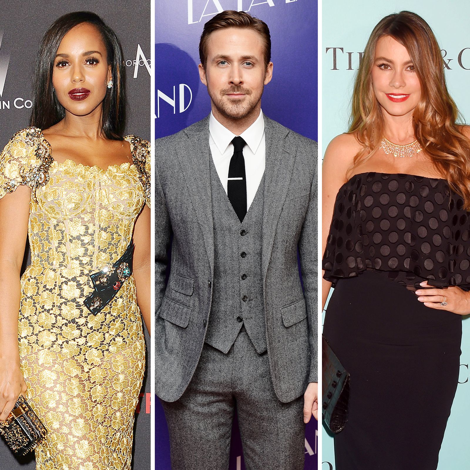 Kerry Washington, Ryan Gosling y Sofia Vergara