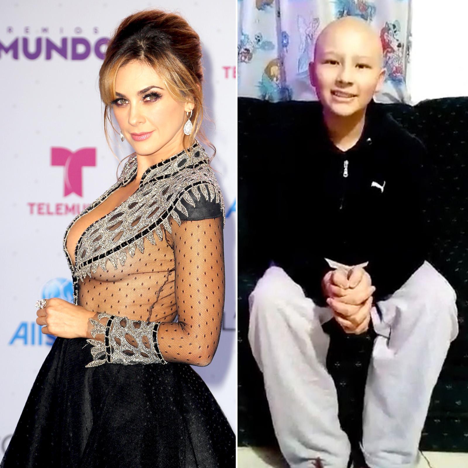 Aracely Arámbula y Yael Salvador Galán Muñiz