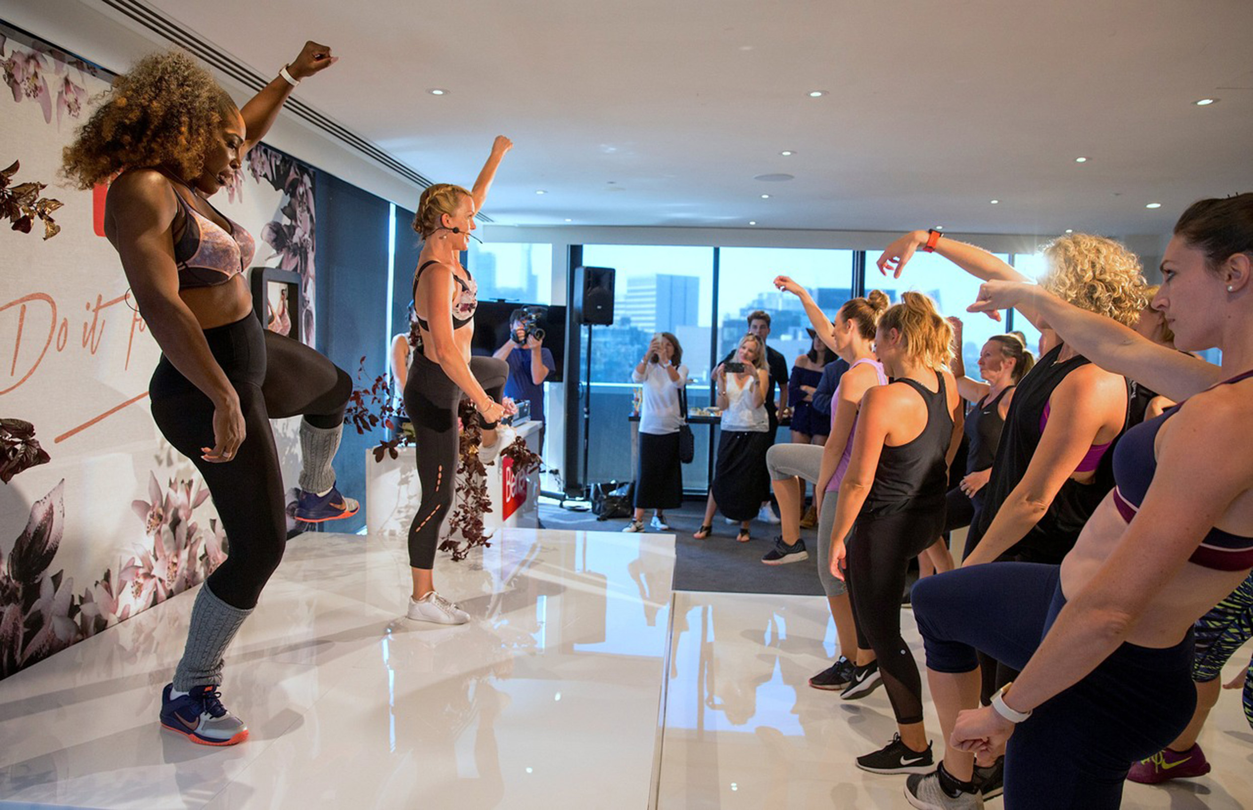Serena Williams Leads A Dance Class While Promoting Berlei's New Sport Bra In Australia