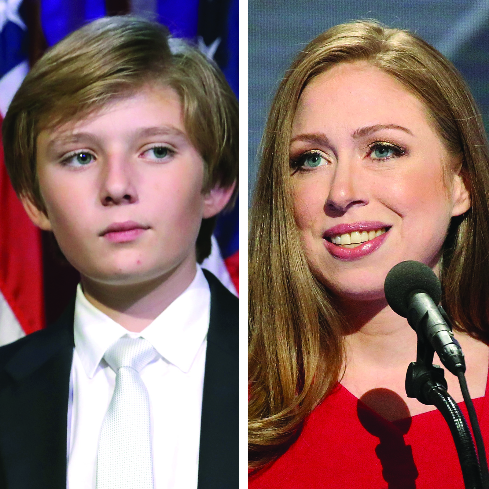 Barron Trump y Chelsea Clinton