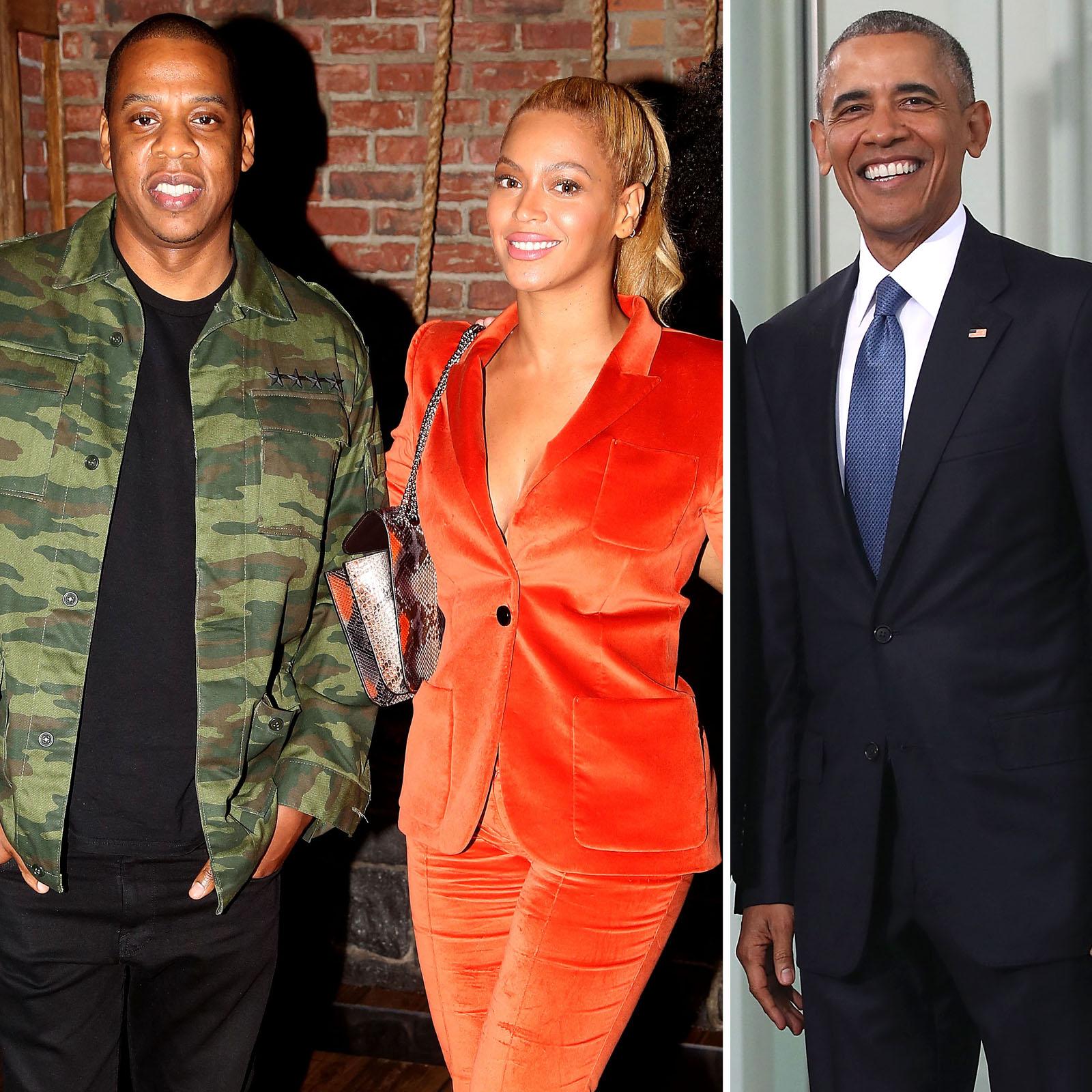 Jay Z, Beyonce y Barack Obama