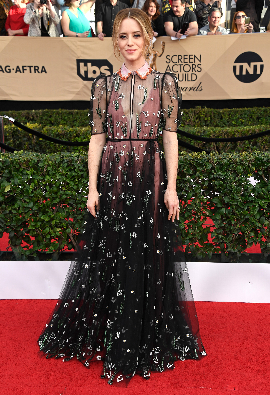 Claire Foy SAG awards vestido