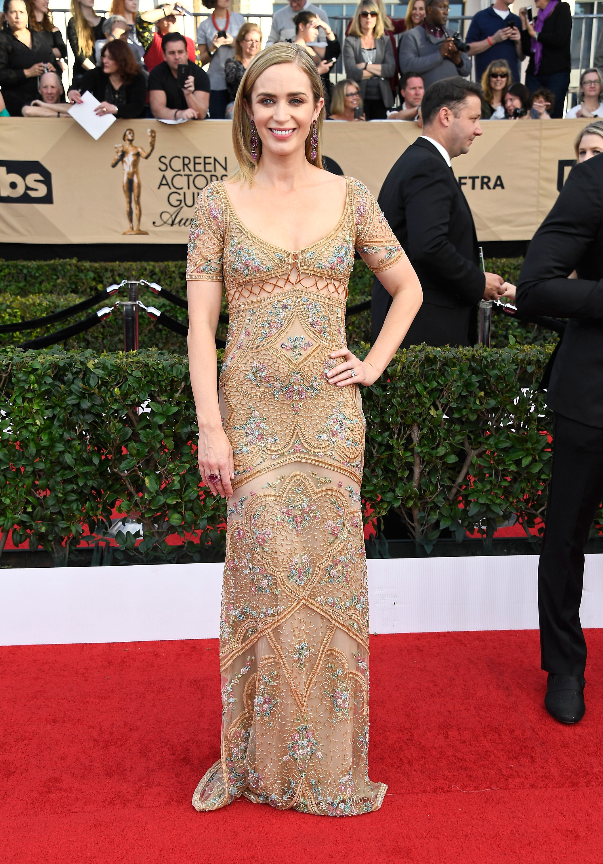 Emily Blunt SAG awards vestido