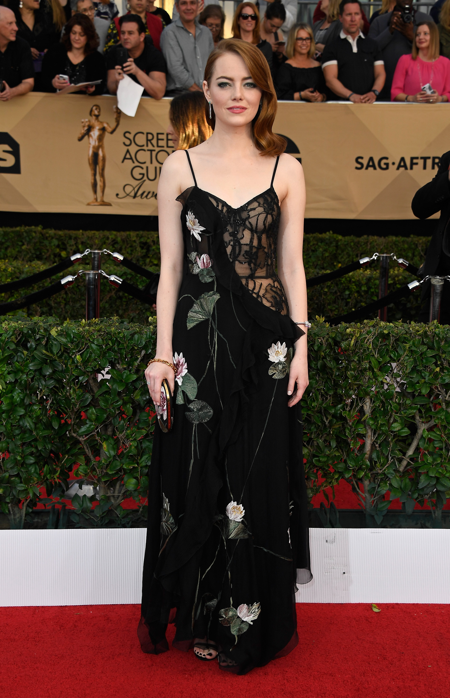 Emma Stone SAG awards vestido