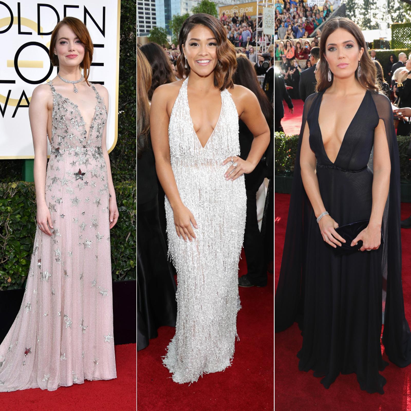 Escotes Golden Globes Emma Stone Gina Rodriguez Mandy Moore
