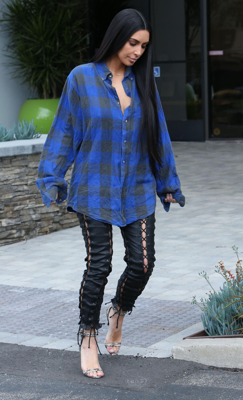 Kim Kardashian, el look del dia