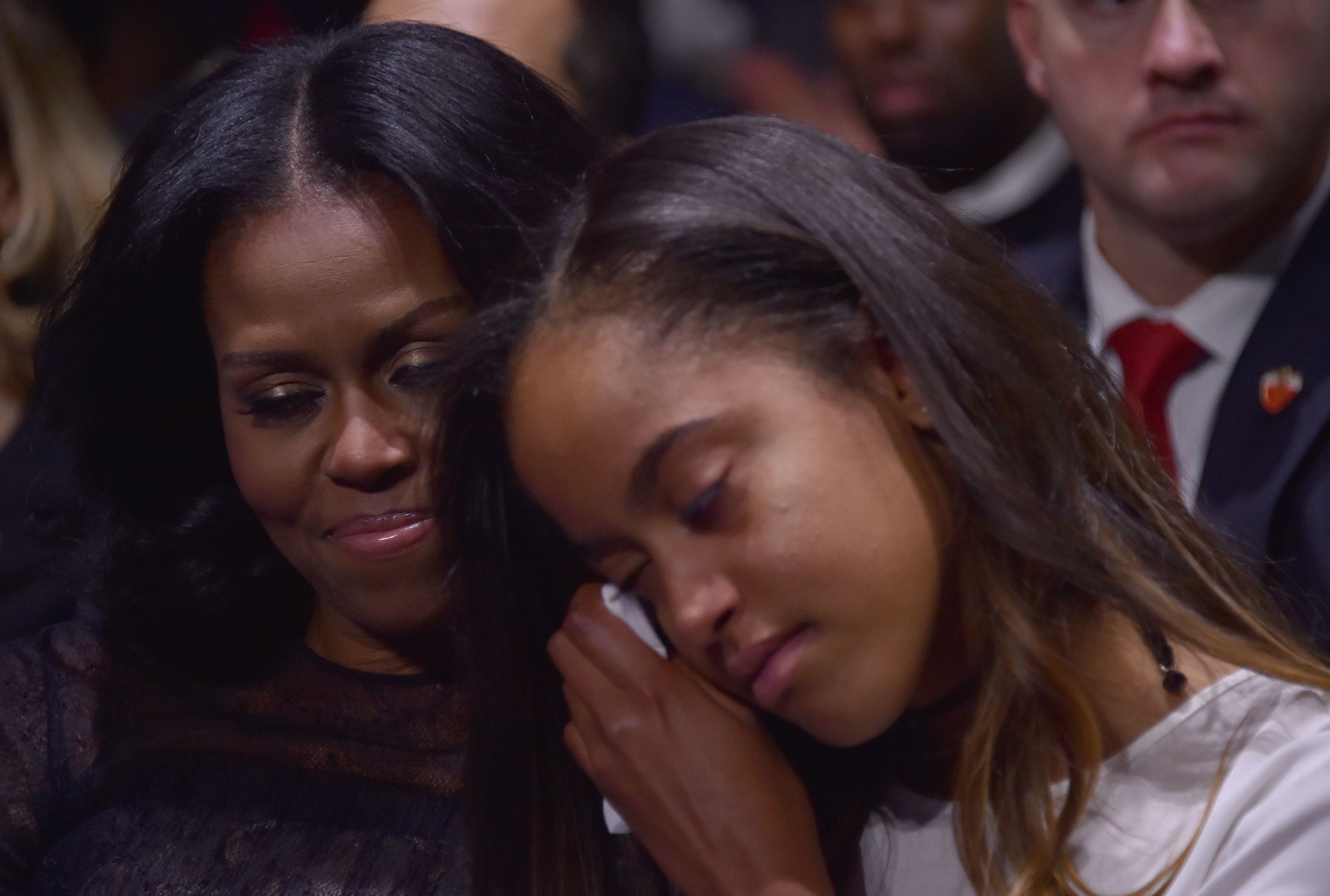 Michelle Obama y Malia Obama