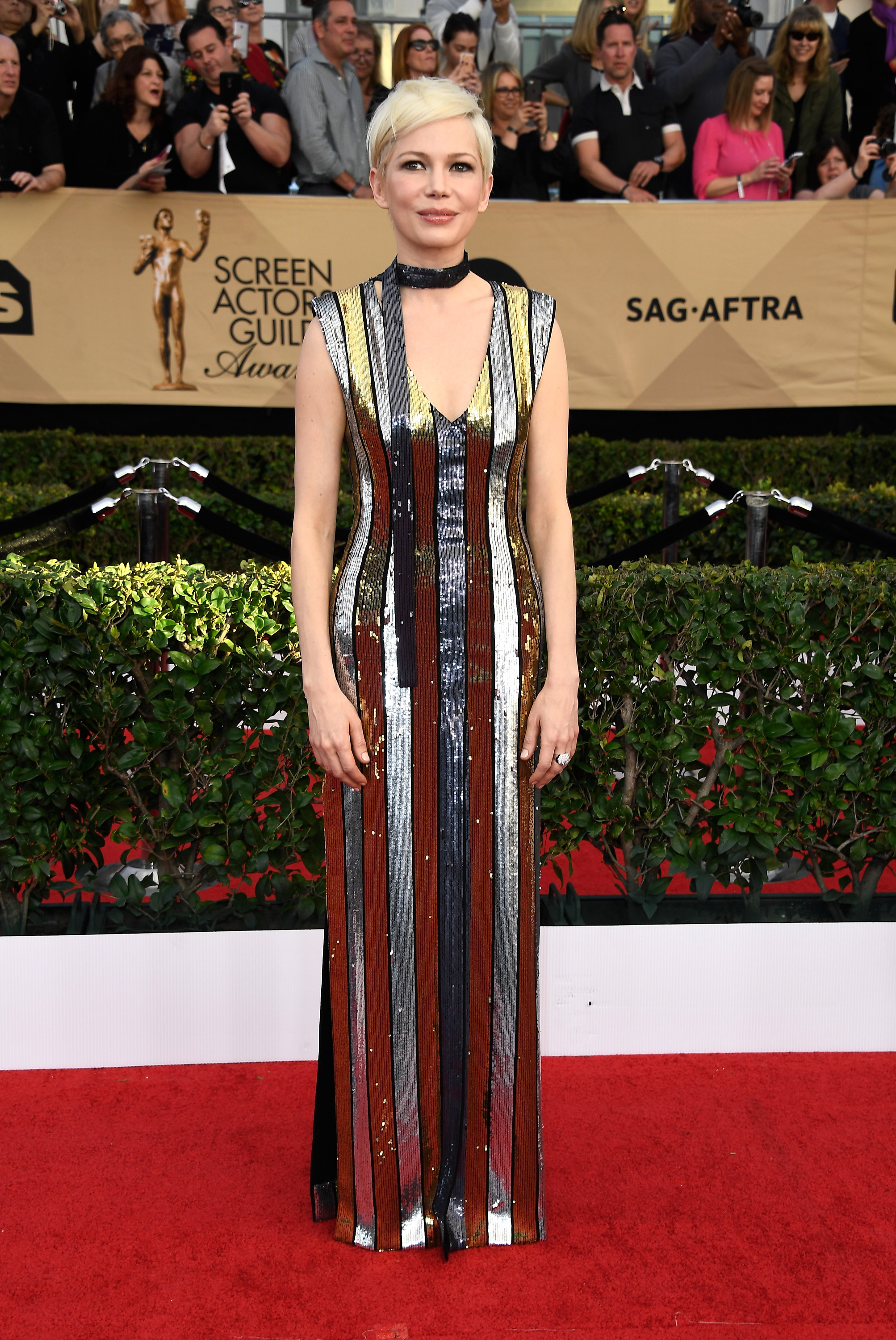 Michelle Williams SAG awards vestido
