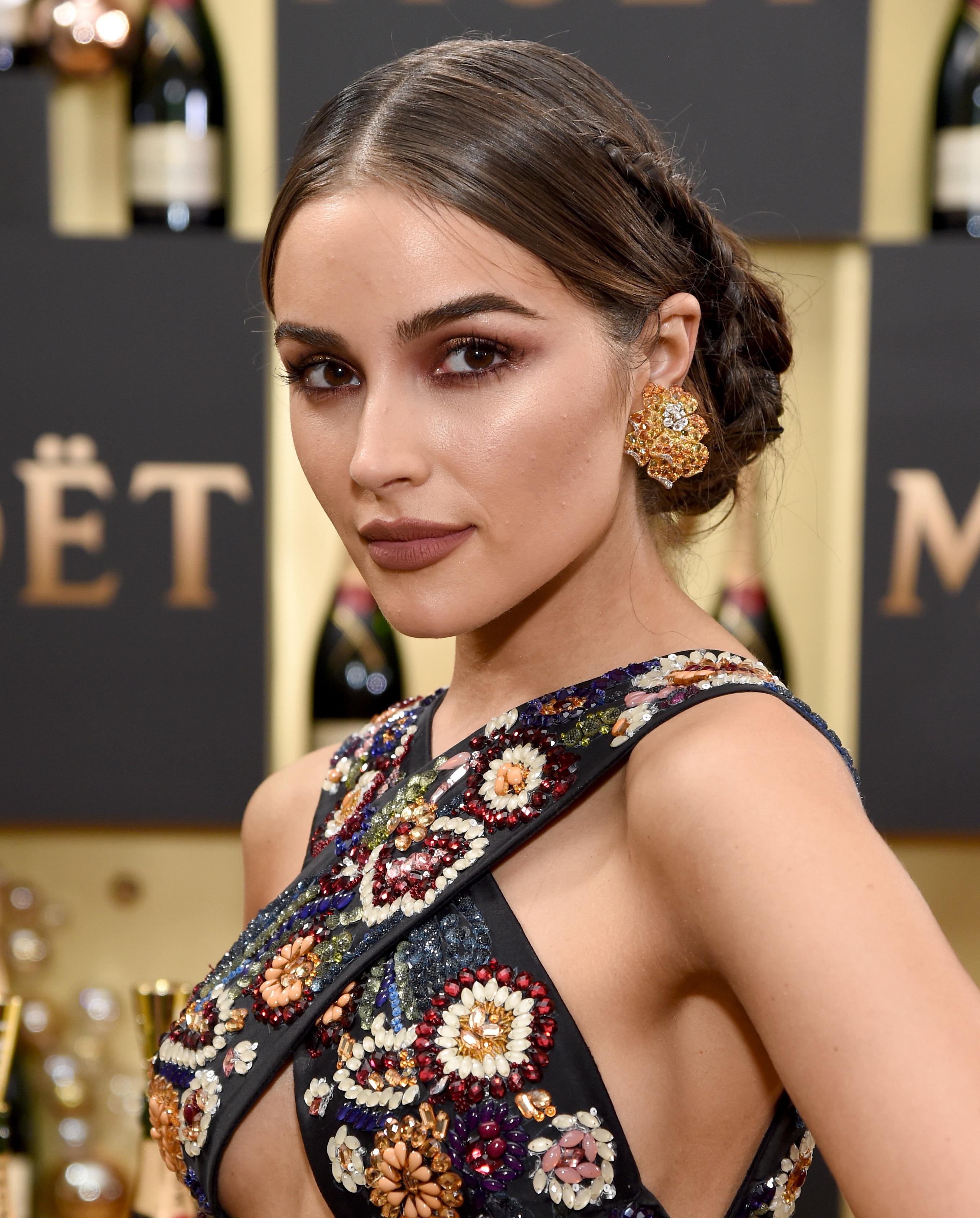 Olivia Culpo, peinado Golden Globes