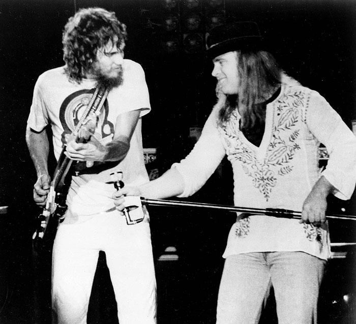 Ronnie Van Zant y Stevie Gaines
