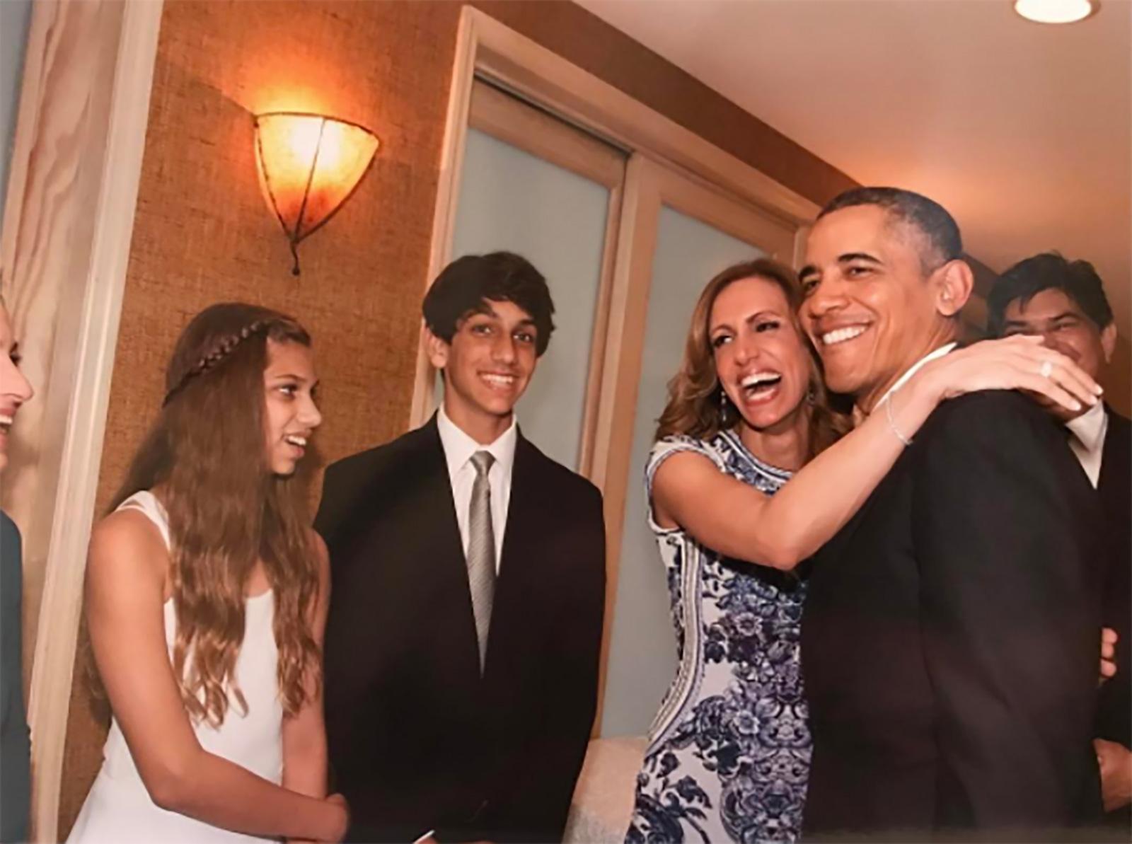 Lili Estefan y Barack Obama