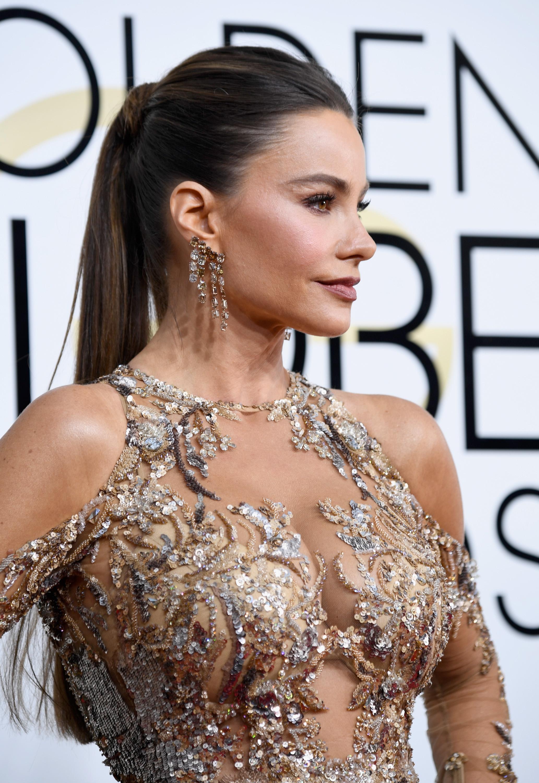 Sofía Vergara, peinado Golden Globes