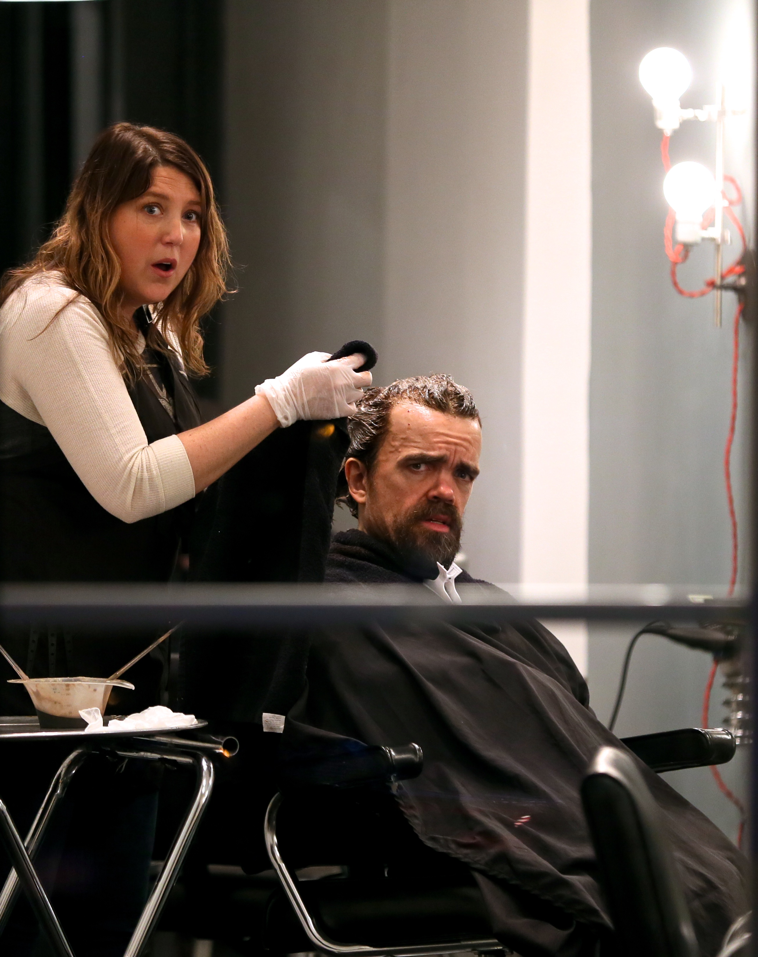 EXCLUSIVE Peter Dinklage Dyes His Hair A Fiery Red As He Emerges From Swanky NYC Salon