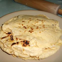 Tortillas de harina vegetarianas