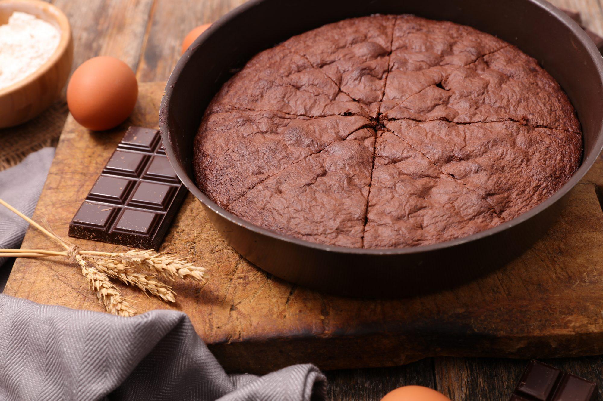 Pastel sencillo de chocolate